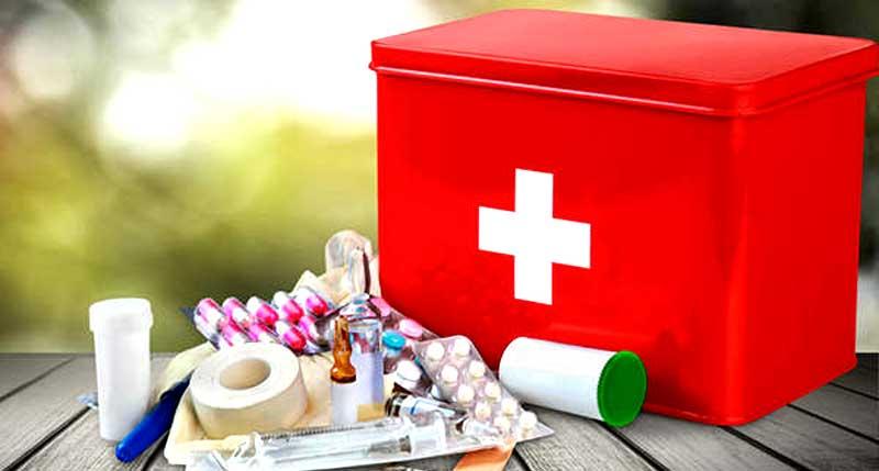 Съдържание на аптечката за първа помощ